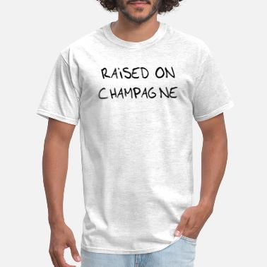 Snowball Fight Raised on champagne - Men's T-Shirt