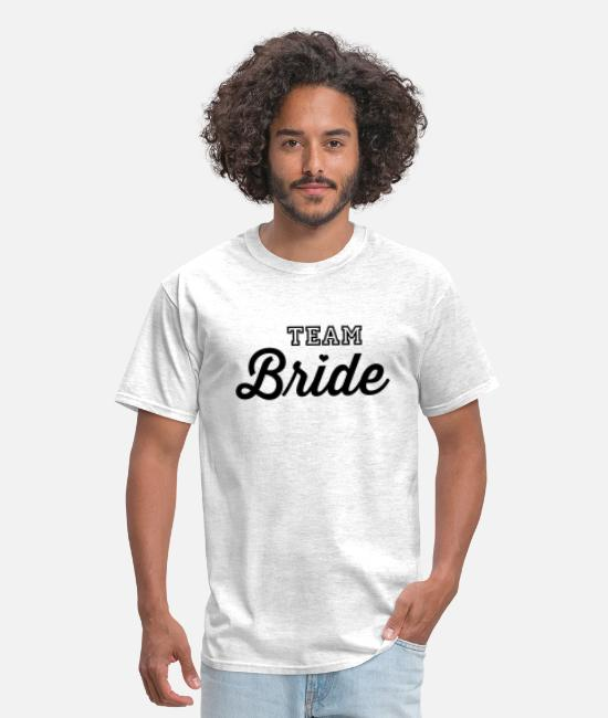 Bachelorette Party T-Shirts - Team Bride - Men's T-Shirt light heather gray