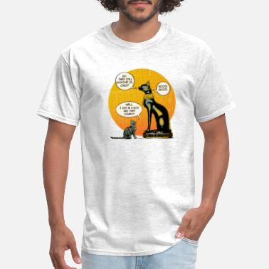 cat conversation - cat shirt for cat lovers - Men's T-Shirt