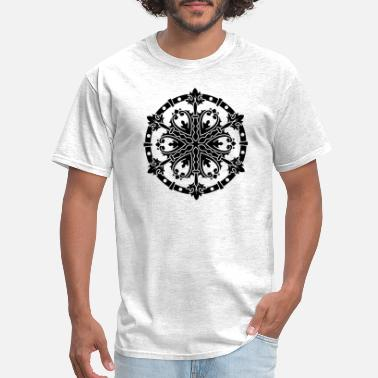 Ornament mandala, asian, india, henna, floral, ornament, ta - Men's T-Shirt