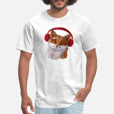 Fox in headphones - Men's T-Shirt