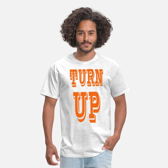 Turn Up T-Shirts - TURN UP - Men's T-Shirt light heather grey