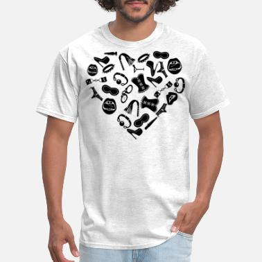 Bondage Freak Bondage Toy Kink Heart  ©WhiteTigerLLC.com - Men's T-Shirt