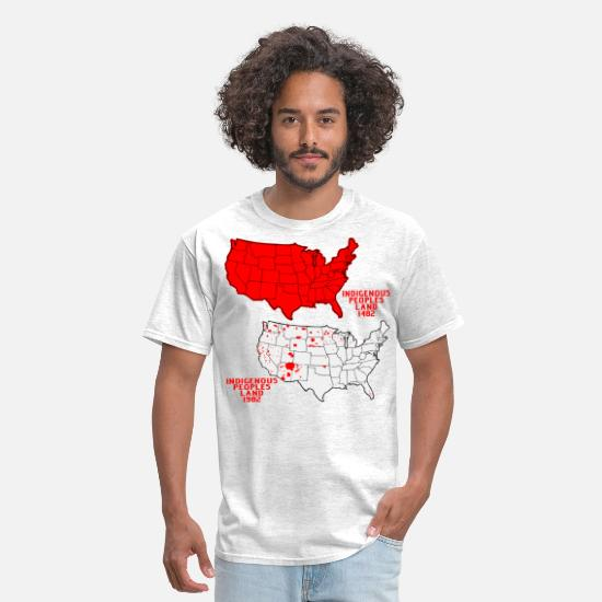 Illegal T-Shirts - Illegal Immigration Started In 1492  © - Men's T-Shirt light heather grey