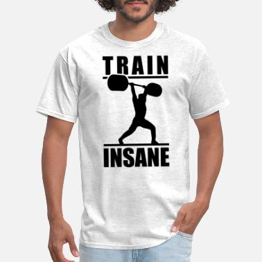 Lifting train insane weightlifter BLACK - Men's T-Shirt