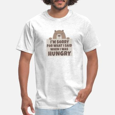 aabb5356d Bear hunger excuse funny gift shirt - Men's T-Shirt