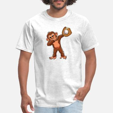 Chimpanzee Cute Dabbing Monkey Lovers Dab Baseball Girls Boys - Men's T-Shirt