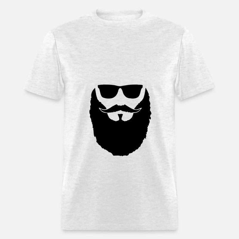 Hipster beard and glasses Men's T-Shirt - grey tie dye
