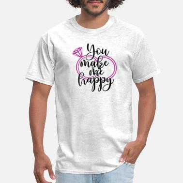 Engagement Party Wedding Present: You make me happy - Men's T-Shirt