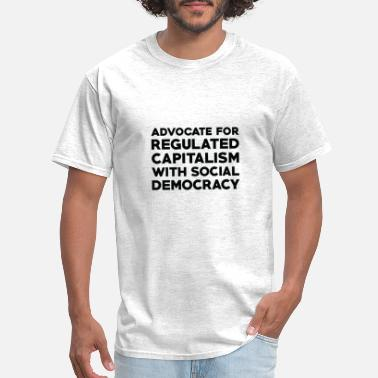 Social Democracy Text: Capitalism with social democracy (black) - Men's T-Shirt