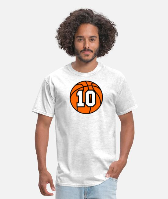 Ball T-Shirts - 10 Basketball Raster 3_color TAS - Men's T-Shirt light heather gray