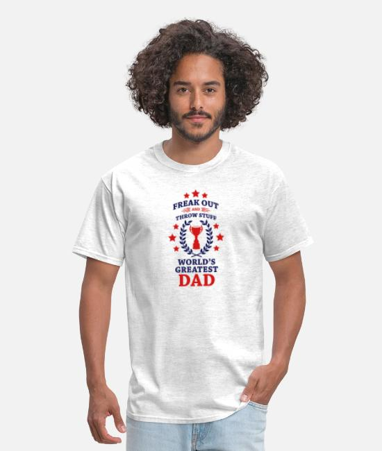 Dad To Be T-Shirts - Phish Fuego World's Greatest Dad - Men's T-Shirt light heather gray