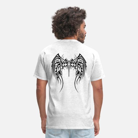 Wings T-Shirts - Tribal Wings - Men's T-Shirt light heather grey