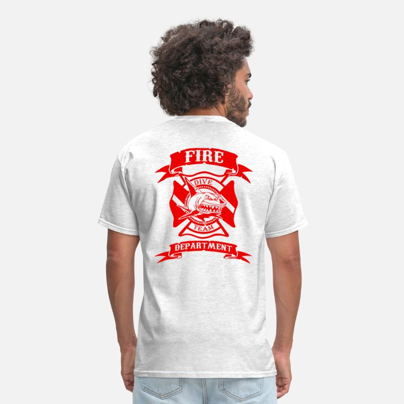 Paramedic T-Shirts - Fire Dive Team - Men's T-Shirt light heather grey