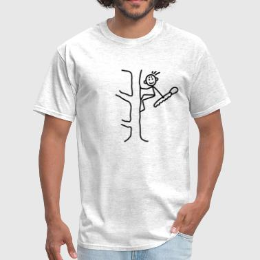 Woodcutter with chainsaw - Men's T-Shirt
