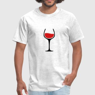 Wine Glass TWO COLOR VECTOR - Men's T-Shirt