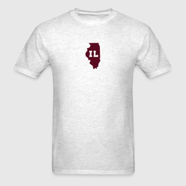 Illinois Shape Abbreviation - Men's T-Shirt