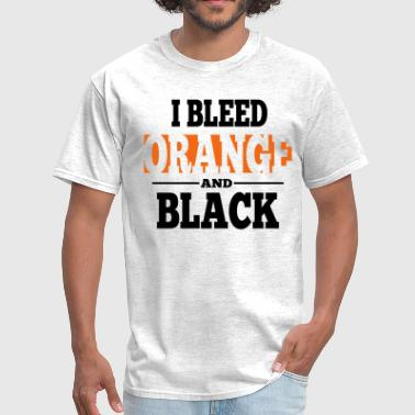 I Bleed Orange And Black - Men's T-Shirt
