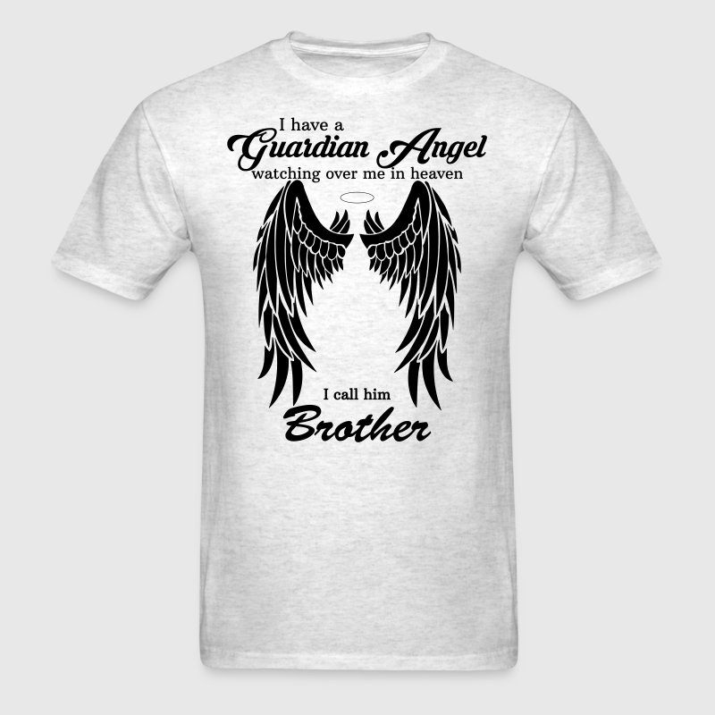 My Brother Is My Guardian Angel he Watches Over M - Men's T-Shirt