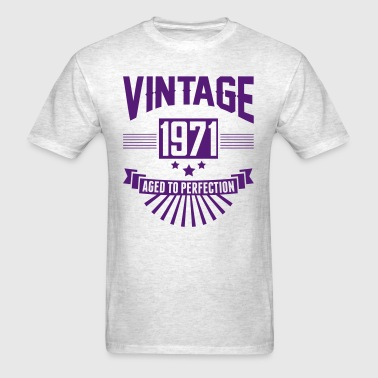 VINTAGE 1971 - Aged To Perfection - Men's T-Shirt