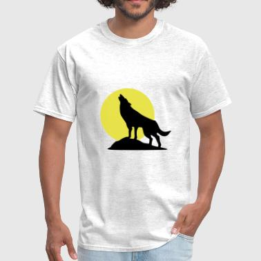 Wolf and Full Moon, Wolve - Men's T-Shirt