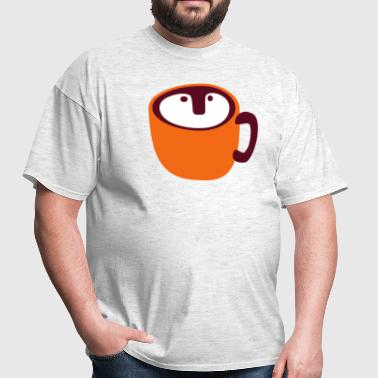 cool owl shapes coffee cup ? - Men's T-Shirt