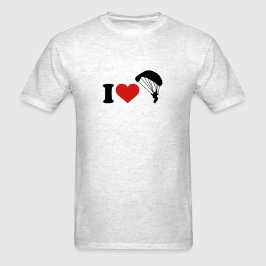 I love Parachute jumping - Men's T-Shirt