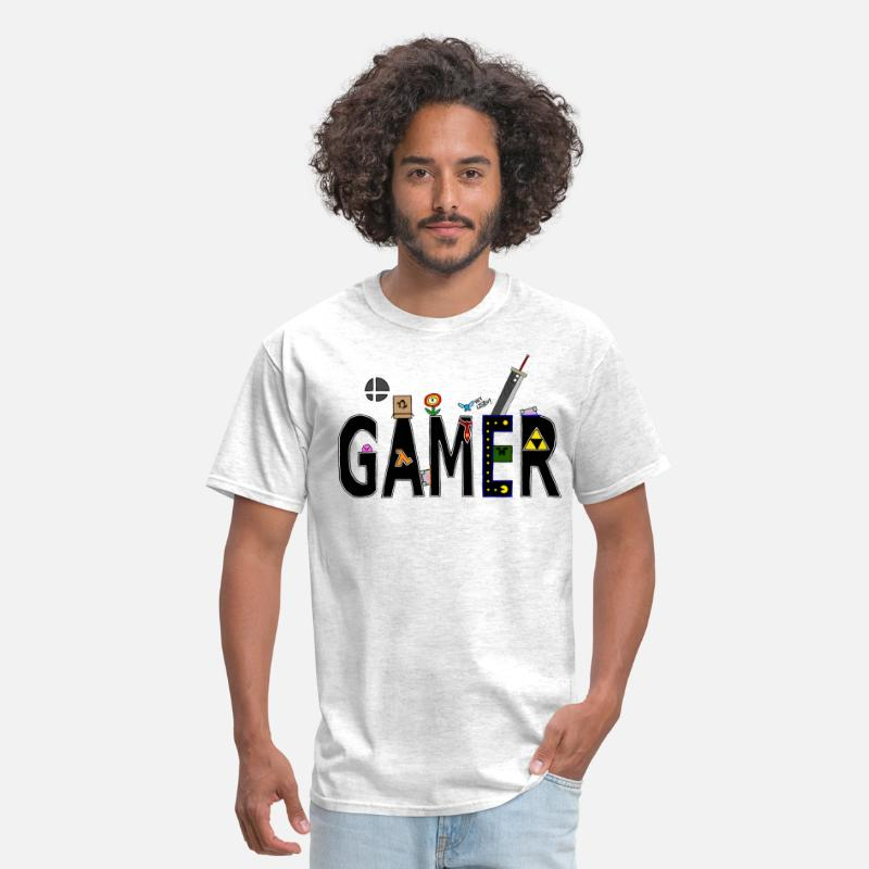 Gaming T-Shirts - Gamer - Men's T-Shirt light heather grey