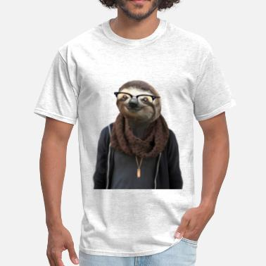 Hipster Sloth - Men's T-Shirt
