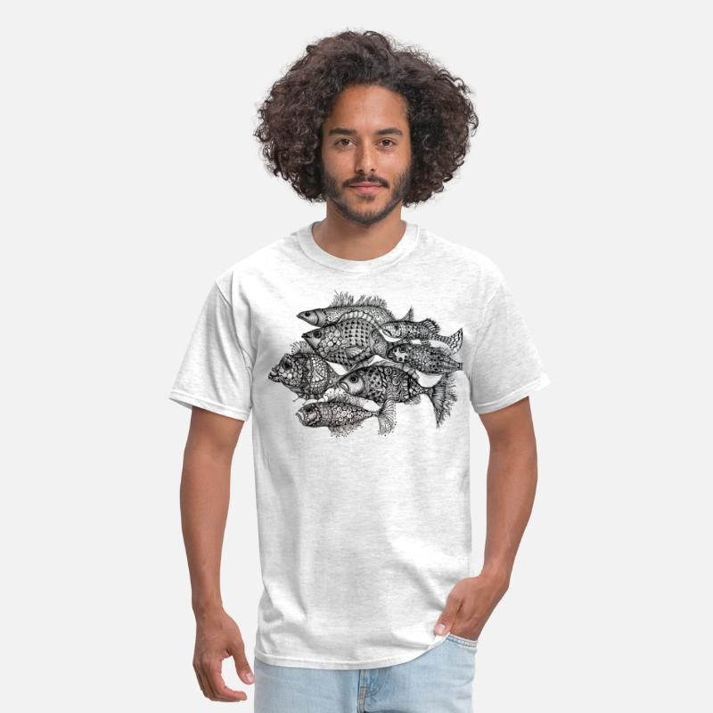Fishing T-Shirts - fishes - Men's T-Shirt light heather grey