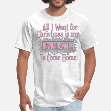 Prisonwivesapparel All I Want For Christmas - Pink - Men's T-Shirt