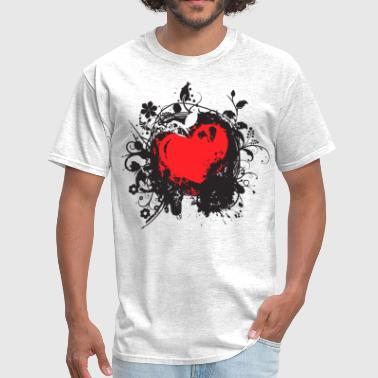 Red Black Heart black red heart - Men's T-Shirt