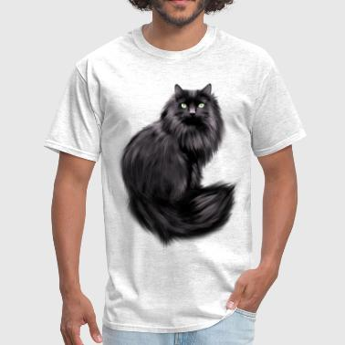 Painted Black Cat - Men's T-Shirt