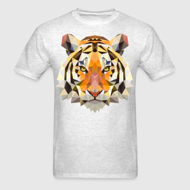 geometric tiger  - Men's T-Shirt