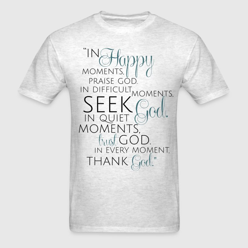 Beautiful quote about God - Men's T-Shirt