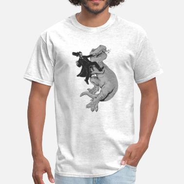 Lincoln Punching a T-Rex like a boss - Men's T-Shirt