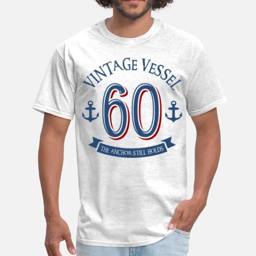 Mens T ShirtNautical 60th Birthday