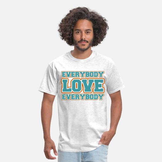 Moon T-Shirts - Everybody Love Everybody - Men's T-Shirt light heather grey
