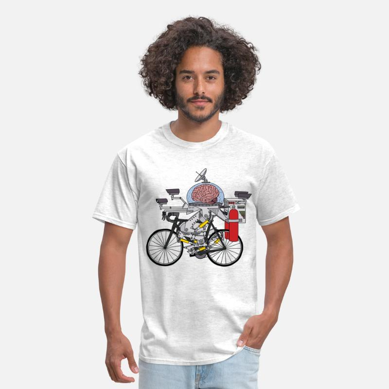 Dope T-Shirts - Brain Bike, Cyclist of the year 3000 - Men's T-Shirt light heather grey