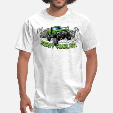 Rock Crawler Creepy Truck Crawler blk web - Men's T-Shirt