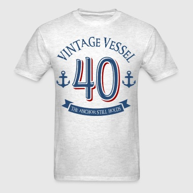 Nautical 40th Birthday - Men's T-Shirt