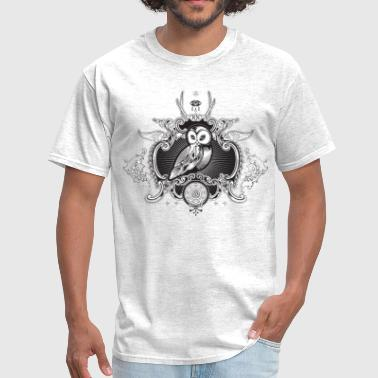 Cool illuminati owl and symbolism - Men's T-Shirt