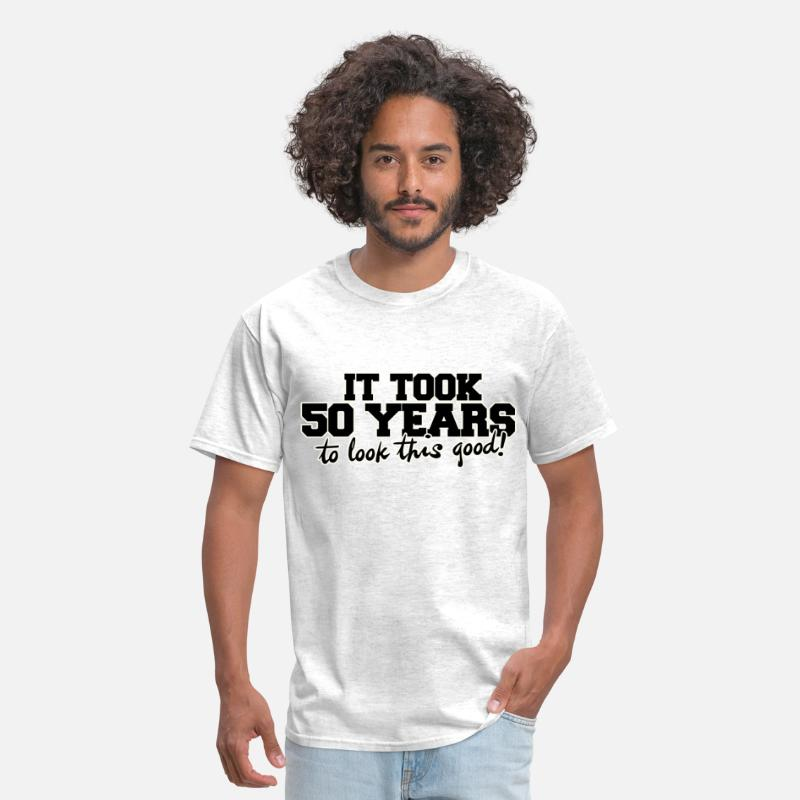 50th Birthday T-Shirts - It took 50 years to look this good - Men's T-Shirt light heather grey