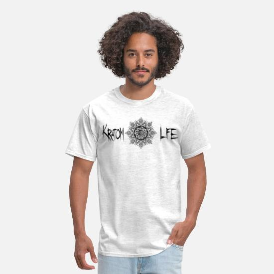 Geometry T-Shirts - Kratom Life Flower of Life - Men's T-Shirt light heather grey