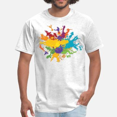 Neon Splash splash - Men's T-Shirt