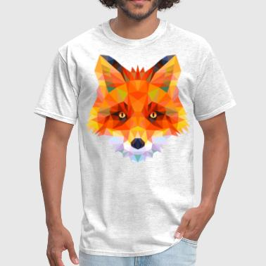 geometric fox head - Men's T-Shirt