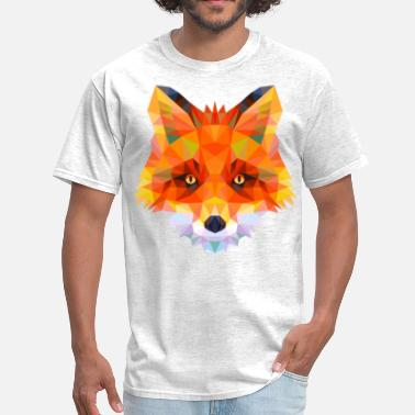 Fox geometric fox head - Men's T-Shirt
