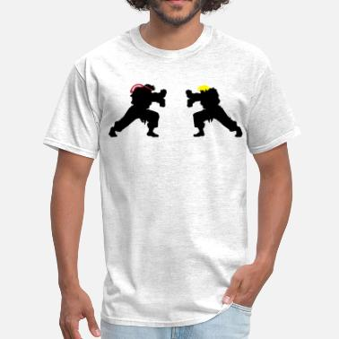 Street Fighter Ryu Hadouken Ryu and Ken Hadouken Silhouettes - Men's T-Shirt