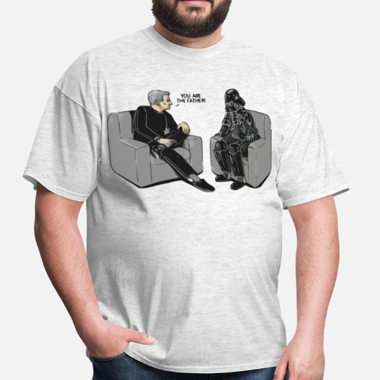 b84ead07 Star Wars Darth Vader you are the father parody - Men's T-Shirt. Back.  Back. Design. Front. Front