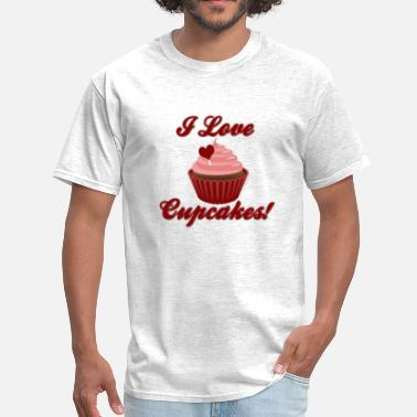 Cupcakes I Love Cupcakes - Men's T-Shirt